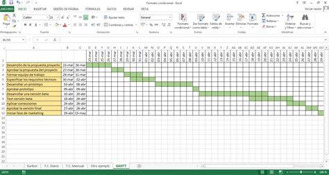Diagrama De Gantt En Excel | diagrama de gantt excel diagrama free engine image for