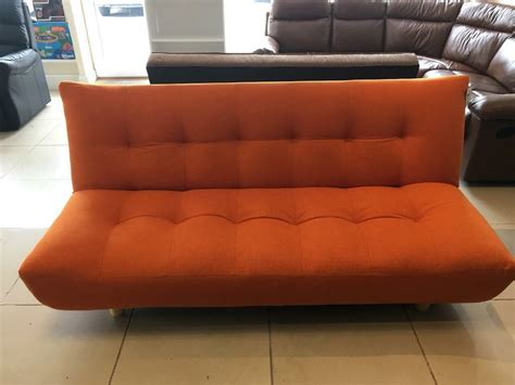 Clic Clac Sofa Bed by Brand New Orange Fabric Small Clic Clac Sofa Bed