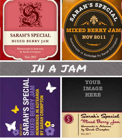design your own jam label jam labelizer jam label generator gramkin paper studio