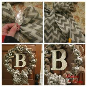 Diy chevron burlap wreath tutorial