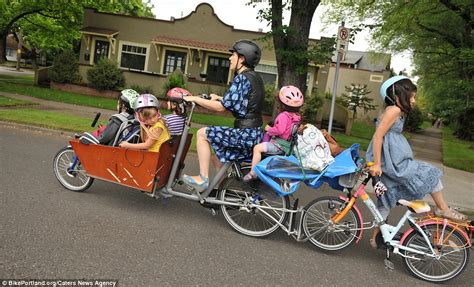 bike attachment for emily finch portland or does the school run on a bicycle modified to carry all six