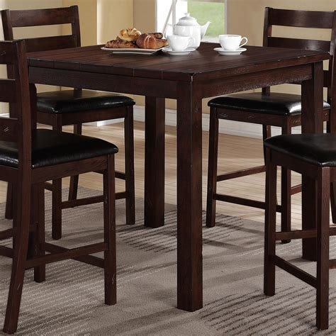 crown 4 counter height table set crown quinn 5 counter height table set with