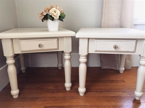 end table in linen milk paint general finishes design center