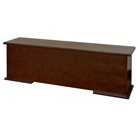 reception desk hutch kathy ireland home by martin tribeca loft cherry
