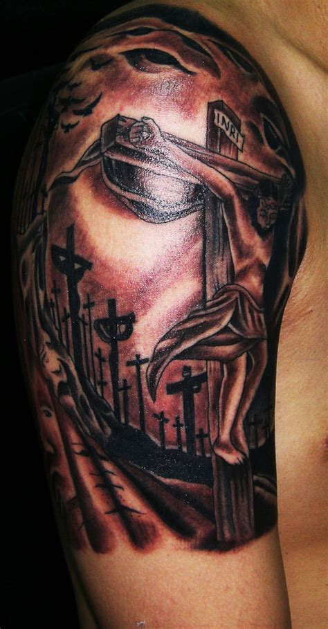 tattoo of jesus carrying the cross jesus tattoos designs ideas and meaning tattoos for you