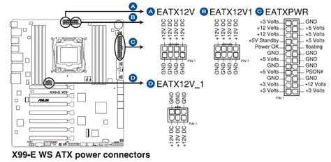 Cable Molex To 4 Pin Atx Motherboard Mobo Power Cable motherboard power connectors cpus motherboards and