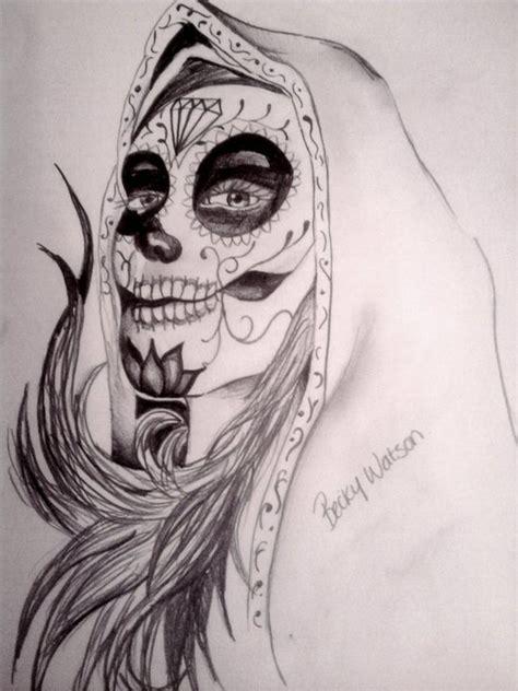 sugar skull lady by beckywatson on deviantart