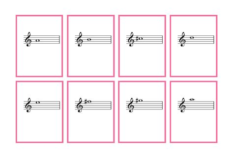 Printable Violin Note Flash Cards | complete set violin flash cards printable denley music