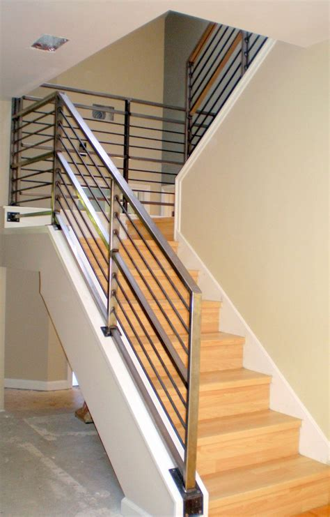 metal stair banister modern stairs railings pinterest