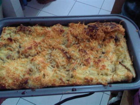 Oven Panggang Roti resep puding roti pisang coklat keju panggang bufeb