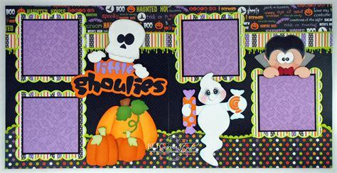 scrapbook layout ideas for halloween blj graves studio little ghoulies halloween scrapbook pages
