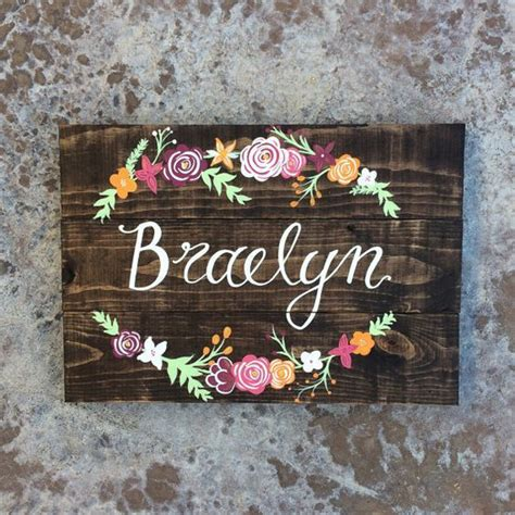 Handmade Baby Name Signs - 25 best ideas about baby name on sofia