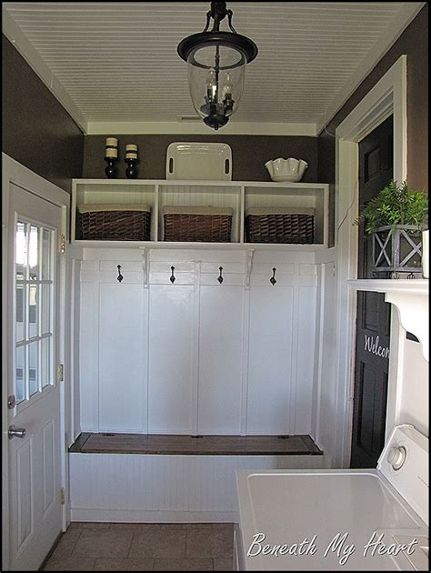 Laundry Room In Garage Decorating Ideas A Laundry Mudroom Makeover Re Visited Beneath My