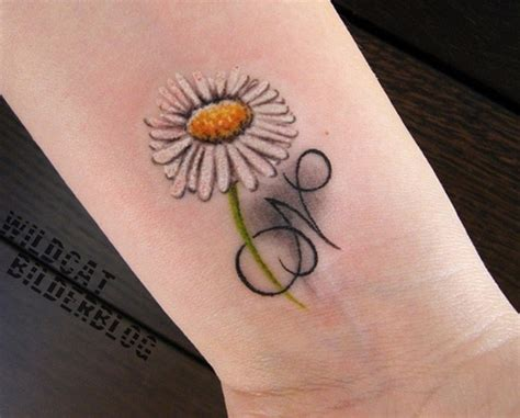 tattoo design letter n daisy flower with n letter design tattoo tattoos book