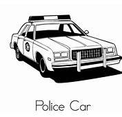 Plansa De Colorat Cu O Masina Politie