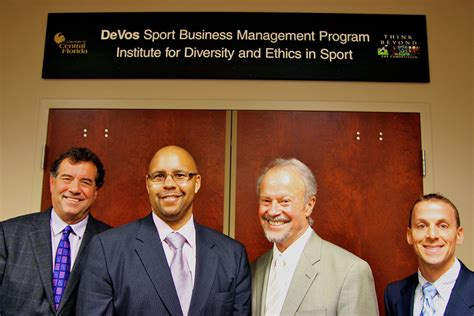 Of Central Florida Mba Sports Management by Devos Sport Business Management Program Receives Global