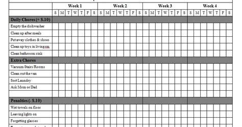 jason matters chore chart