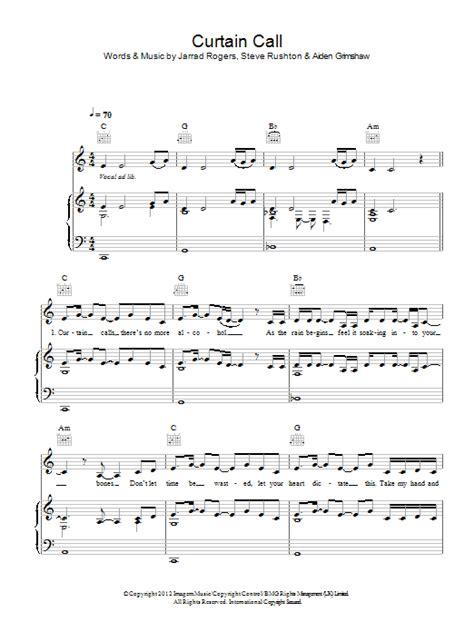 curtain call music curtain call sheet music direct