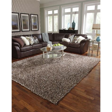 overstock shag rug caldera tufted brown shag rug 7 9 x 9 9 overstock apartment home