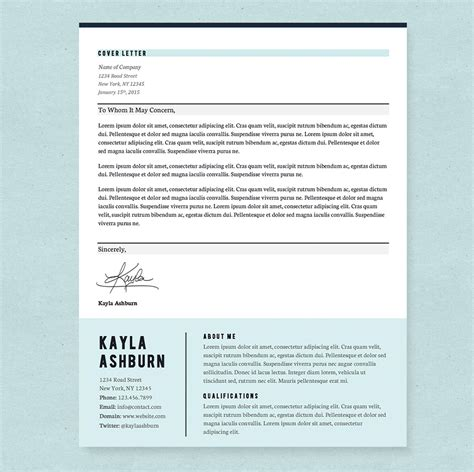 stylish blue resume template pkg resume templates on