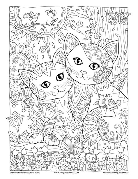 creative cats coloring pages best friends creative kittens coloring book by marjorie