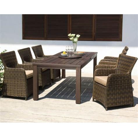 Hton Fixed Rectangular 6 Seater Dining Set Garden Furniture Patio Table Chair Ebay Royalcraft Regency 6 Seater Dining Set Garden