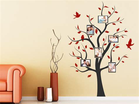 Wand Mit Vielen Bilderrahmen by Wandtattoo Baum Mit Bilderrahmen Wandtattoo De