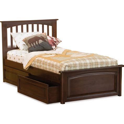 raised twin bed atlantic furniture ap9024134 brooklyn twin bed w raised