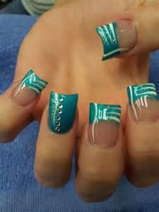 french tip nail designs with rhinestones nail polish hand