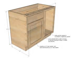 kitchen corner cabinet plans ana white 42 quot base blind corner cabinet momplex
