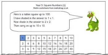 year 5 maths worksheet square numbers 1 maths blog