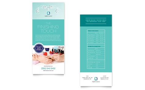 nail technician rack card template word publisher