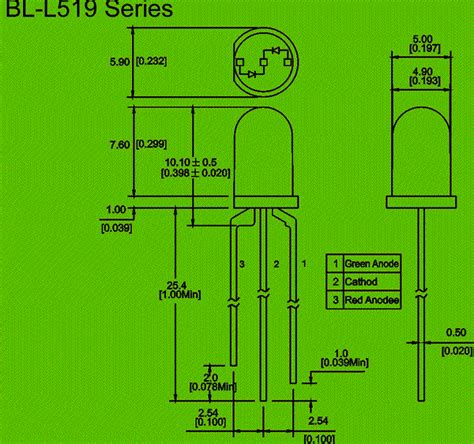 led diode wiring diagram bicolor led 3 pin electronics component