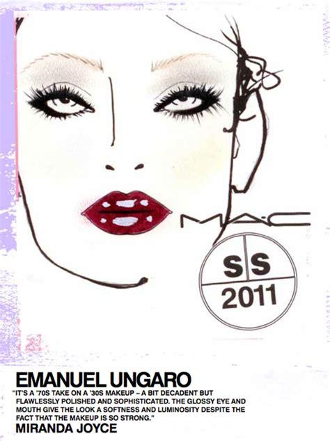 Lipstick Mac Emanuel Engaro Puter emanuel ungaro fashion week ss 2011 makeup and