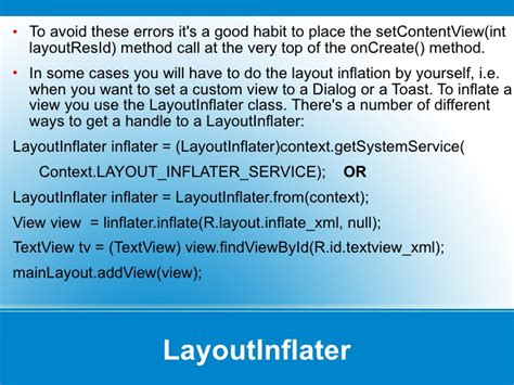 layoutinflater li layoutinflater from context android tutorial