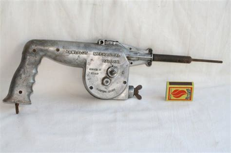 Tools Vintage 1933 Rawlplug Mechanical Hammer With A