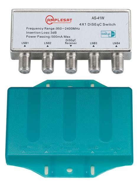 Disceq 4x1 waterproof diseqc 4x1 satellite multi switch fta lnb free to air dish network ebay
