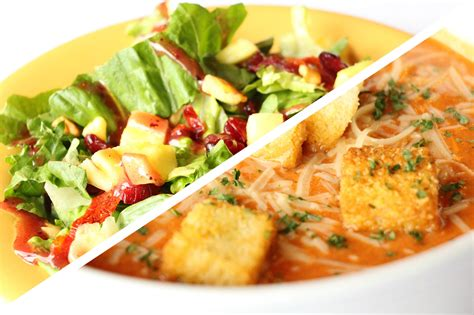 soup and salad at olive garden