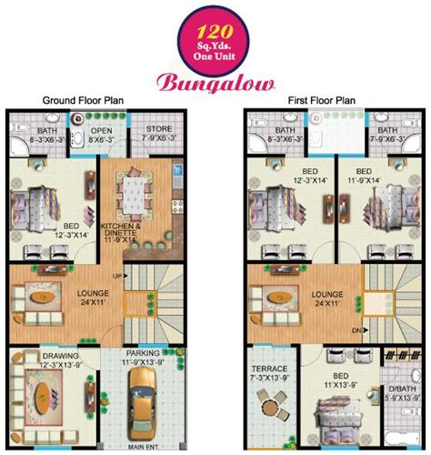 120 yard home design rainbow sweet homes 120 sq yards one unit bungalow