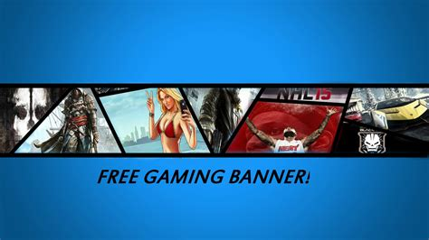 Free Gaming Banner Photoshop Download Psd Youtube Free Gaming Banner Template