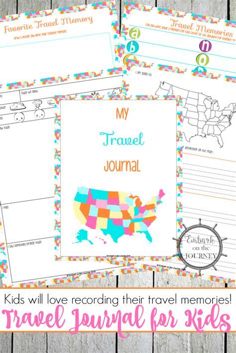 printable road trip journal free printable travel journal for kids money saving mom 174