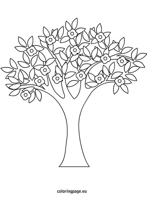 coloring pages of spring trees spring tree coloring page spring pinterest trees