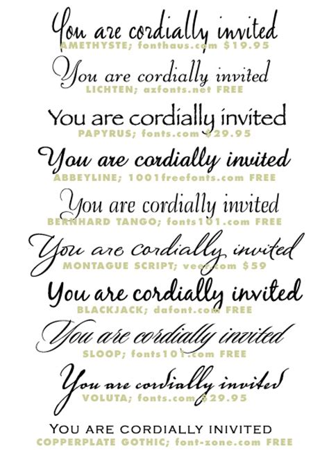 Wedding Invitation Letter Type Wedding Invitation Typeface And Font Sources Invitation Ideas