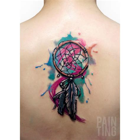 watercolor dreamcatcher tattoo catcher painting watercolor dreamcatcher