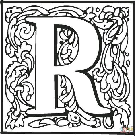 coloring page of letter r 7 best images of r coloring page printable book block