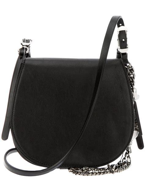 Jimmy Choo Dessy Holdall Handbag by Lyst Jimmy Choo Bonbon Saddle Bag In Black