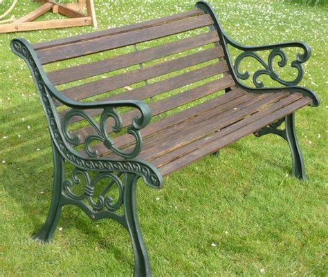 iron garden benches cast iron garden bench c1022 338503 sellingantiques co uk
