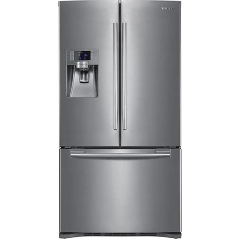 shop samsung 22 5 cu ft door refrigerator with dual maker stainless steel energy