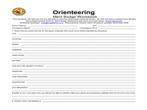 Orienteering Merit Badge Worksheet Answers orienteering merit badge 5th 12th grade worksheet