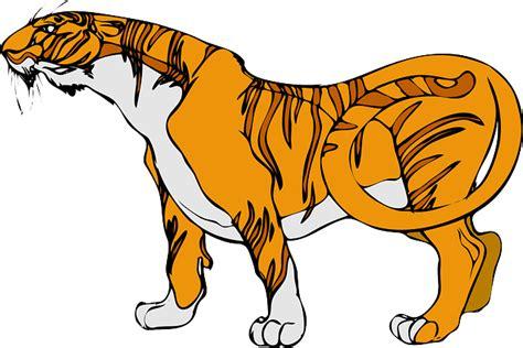 gambar harimau format png stripes tiger animal 183 free vector graphic on pixabay